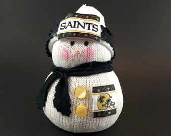 New Orleans Saints, New Orleans Saints collectible, New Orleans Saints accessory, New Orleans Saints snowman, New Orleans Saints gift