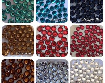 17000 Resin Rhinestones 2mm Bulk Mix Colour Pack Flatback/Embellishments