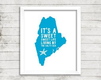 Beach House, Maine, Cape Cod, Starfish, Ocean, Beach, Zac Brown Band, Art Print, Wall Art, Sweet Life, Sea, Coastal