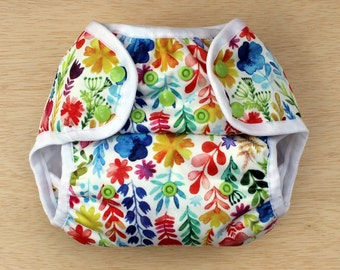 Nelpe Diaper Cover, In Full Bloom, Size One