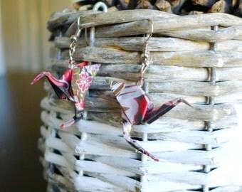 Origami dragon earrings