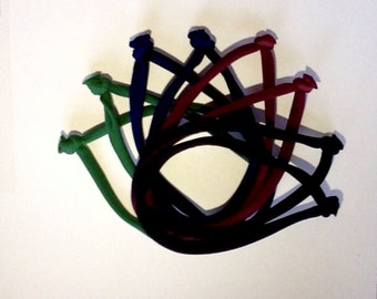 school color thick hair- hairties