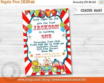50% OFF SALE Circus Invitations, Circus Birthday Invitation, Carnival Invitation, Carnival Birthday Invitation, CIRCUS