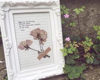 Flowers Poem Framed