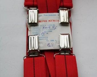 NOS Rare old stock Soviet braces . suspenders  in original packaging. Vintage braces. Vintage suspenders