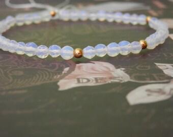 opalite bracelet opalite crystal opalite beads stretch beaded bracelet Stretch Fit All Wrists stretch bracelet
