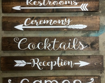 Directional Wedding Signs