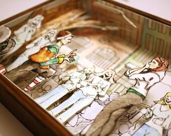 Custom Shadow Box Illustrations