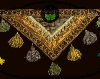 Skirty tassels for belly dance, Tribal Fusion, Ats. Tassel Skirt for Bellydance.