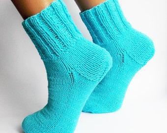 socks,knitted socks, blue socks,socks handmade,women's socks,knitted things