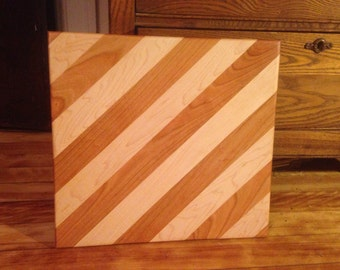 Cutting Board, Striped Cherry and Maple