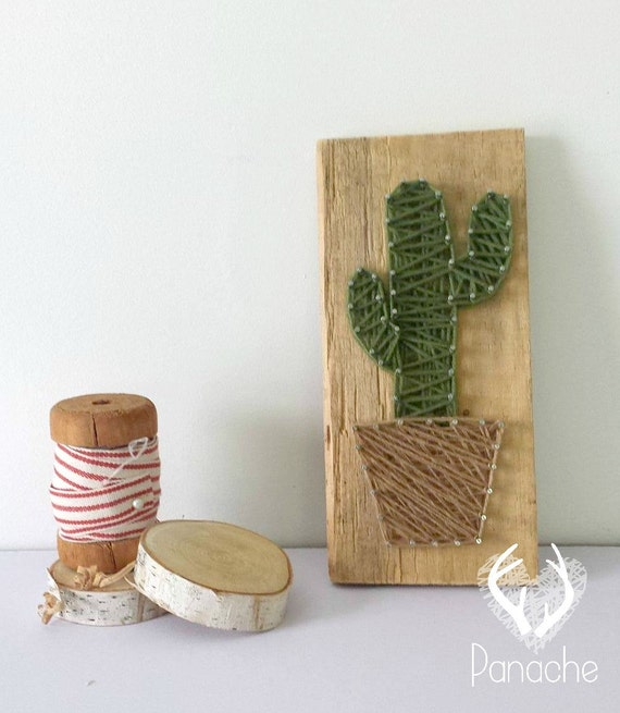Items similar to cactus string art on etsy - String art modele ...
