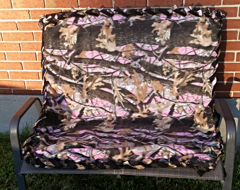 Kids Blanket Pink Camouflage Bedding Handmade Blanket And