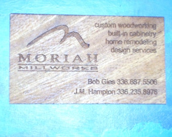 wood veneer business cards