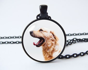 Necklace gold retriever Dog necklace Girlfriend gift Animal jewelry Labrador pendant Pet jewelry Gift for children Dog pendant Animal lovers