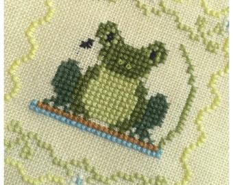 My little frog cross stitch pattern
