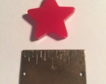 3/4 inch Vintage Bakelite Red  Star