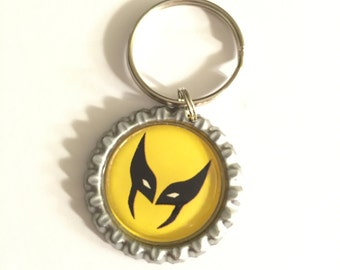 Wolverine Keychain, Marvel Comics, Xmen inspired Keychains, Comic Book Keyrings, Cartoon Bottle Cap Keychain, Christmas Stocking Stuffer 09