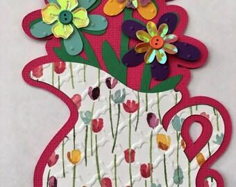 cricut designed flower pitcher