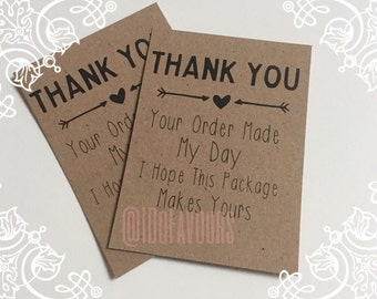 Thank you Order cards