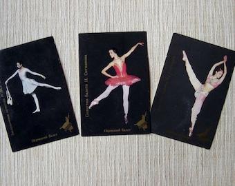 Set of 3 vintage pocket calendars Perm Ballet - Russian ballet - a soloist of the Perm Ballet