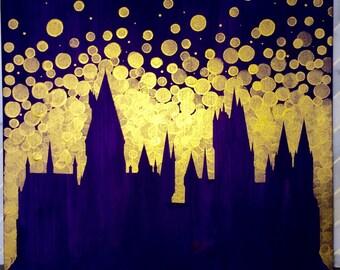 Hogwarts Castle Painting//Harry Potter Castle//Harry Potter fan gift