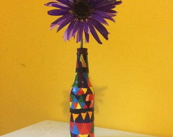 rectangle vase (comes with accent flower)