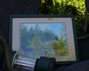 "Memorial Day at Blowout Creek"" acrylic Plein Aire  9X12 CC Willow Original landscape"