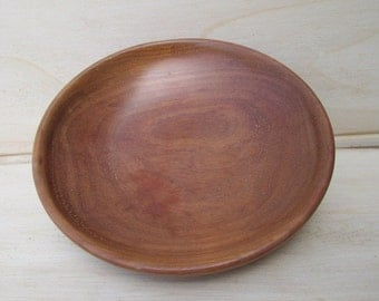 Hand Turned Cherry Saucer made of beautiful Cherry wood from Arkansas.