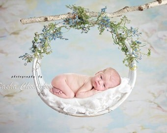 digital backdrop background newborn baby girl  or boy white light blue