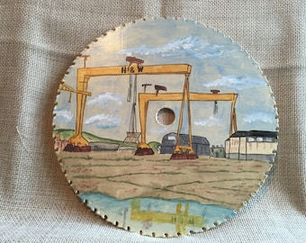 Harland and Wolff Painted circular Saw