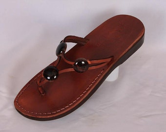 flip flop Jesus sandals from The holyland of Jerusalem , beautiful women sandals, lowheels sandals made from genuine leather, women sandals