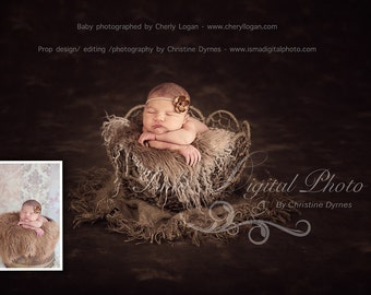 Twine Circles Bowl With Dark Backgroundl - Beautiful Digital background backdrop Newborn Photography Prop download
