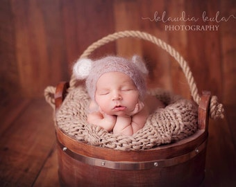 rustic style brown wooden bucket tub photography prop