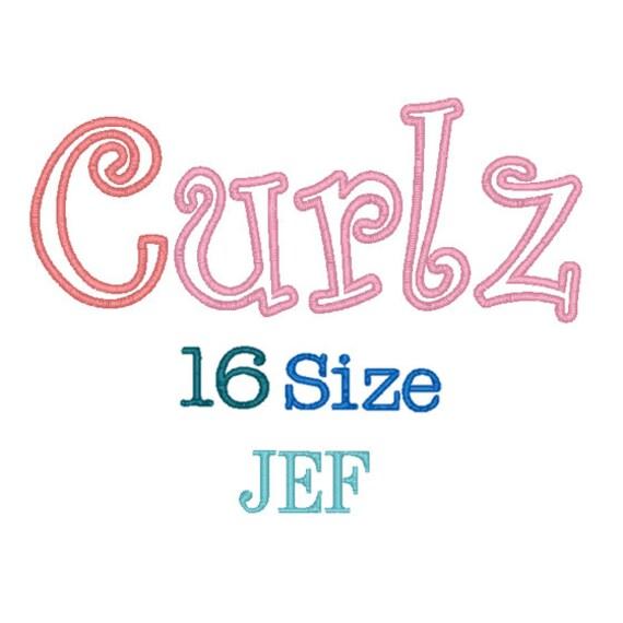 Curlz applique font sizes jef formatcurlz