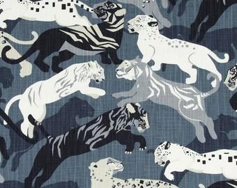 Tiger Pillow Cover, Blue Pillow, Grey, Charcoal Grey, Black, Animal Print, Animal Pillow, Throw Pillow, Modern, SummerHome, Neutral, Fall