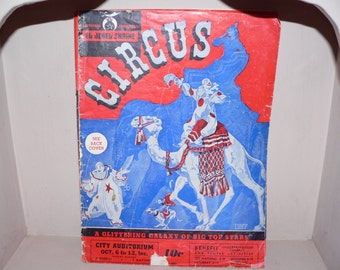 1950's Circus Memorobilia pamphlets