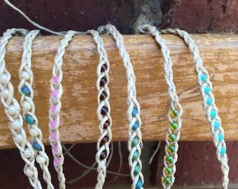Tie On Hemp Wish Bracelet