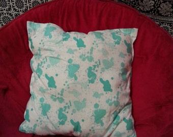Blue Splatter Pillow
