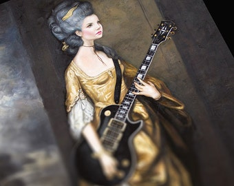 Portrait of a Lady with Gibson, Limited Edition Print (2 sizes available)
