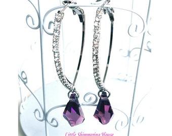 ER10 - Dazzling Swarovski Crystal Dangling Earrings