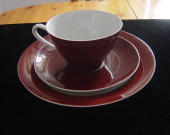 trio of  cup saucer & teaplate by cmielow pottery poland