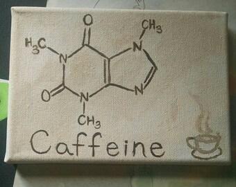 Caffeine molecule art