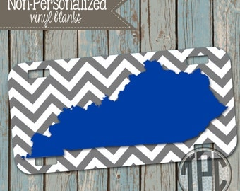 Vinyl Blank - License Plate - Personalize with Vinyl - Kentucky - UK - 014