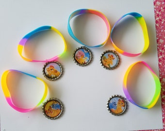 10 Pieces - LION GUARD band bracelets party favors