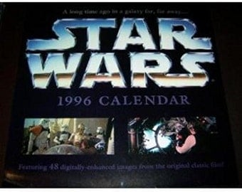 Star Wars 1996 12 Month Calendar
