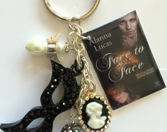 Face To Face Book Cover Key Chain