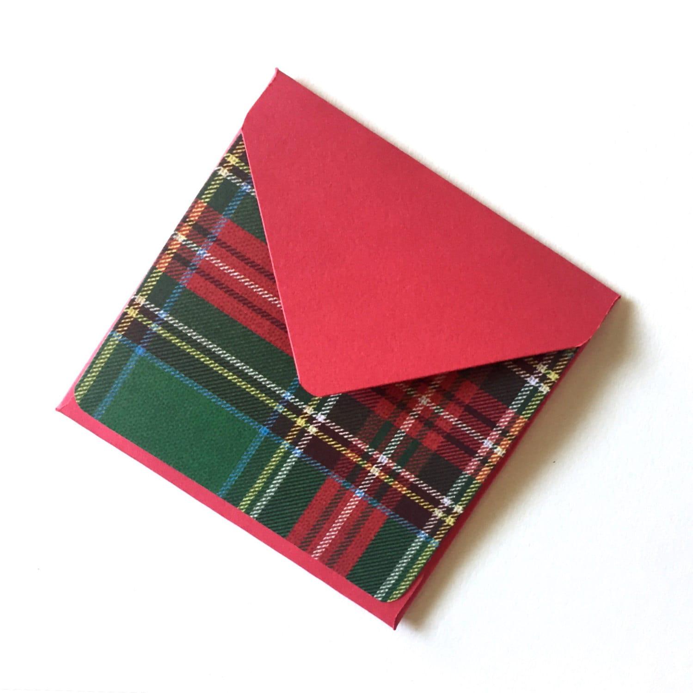 rustic plaid holiday cards mini cards christmas plaid print