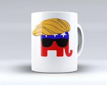 """Donald Trump Coffee Mug, Donald Trump, Trump 2016, Trump Coffee Mug, Trump Mug, Coffee Mug, """"Make America Great Again"""""""