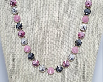 12mm Rivoli Swarovski Crystal Necklace